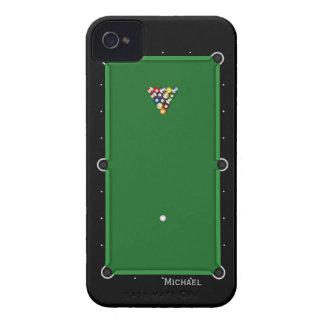 Caso del iPhone 4 de la tabla de billar de la pisc iPhone 4 Case-Mate Carcasas