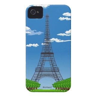 Caso del iPhone 4 de la torre Eiffel de París Fran Case-Mate iPhone 4 Funda