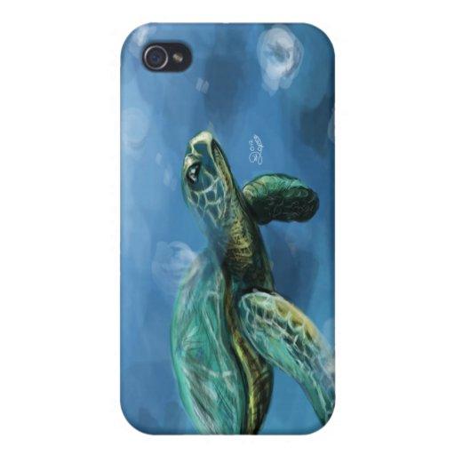 Caso del iPhone 4 de la tortuga iPhone 4 Protectores