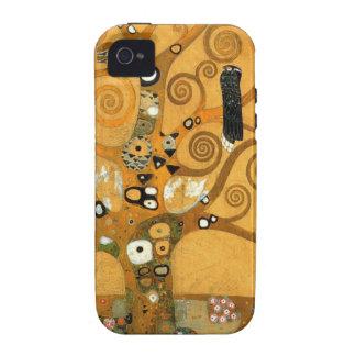 Caso del iPhone 4 de la vida de Klimt del vintage  iPhone 4/4S Fundas