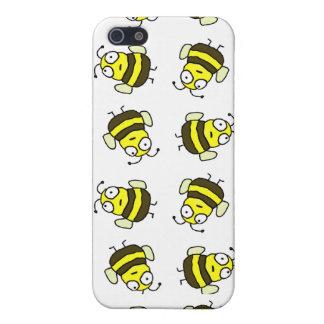 Caso del iPhone 4 de las abejas del dibujo animado iPhone 5 Carcasas