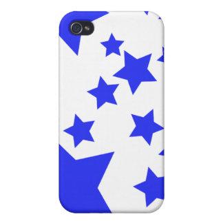 Caso del iPhone 4 de las estrellas azules iPhone 4 Cárcasa