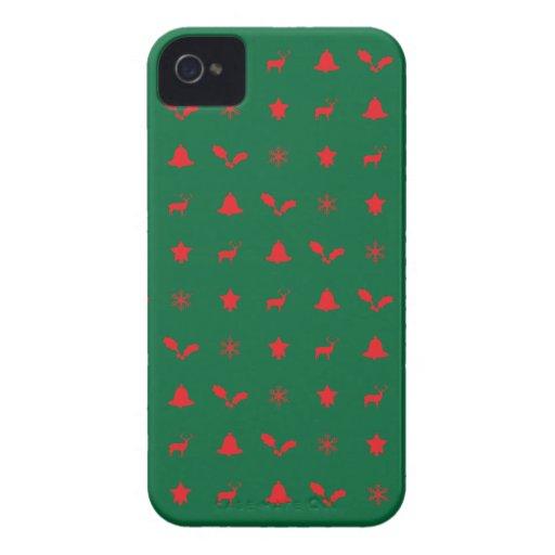 Caso del iPhone 4 de las Felices Navidad iPhone 4 Case-Mate Protector