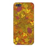 Caso del iPhone 4 de las hojas de otoño iPhone 5 Coberturas