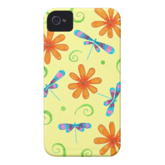 Caso del iPhone 4 de las libélulas de la primavera Case-Mate iPhone 4 Coberturas