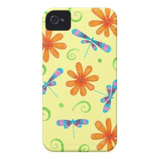 Caso del iPhone 4 de las libélulas de la primavera Case-Mate iPhone 4 Funda