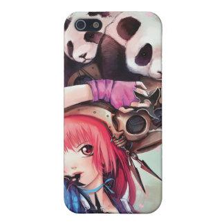 Caso del iPhone 4 de las pandas de Ninja del meloc iPhone 5 Cárcasa