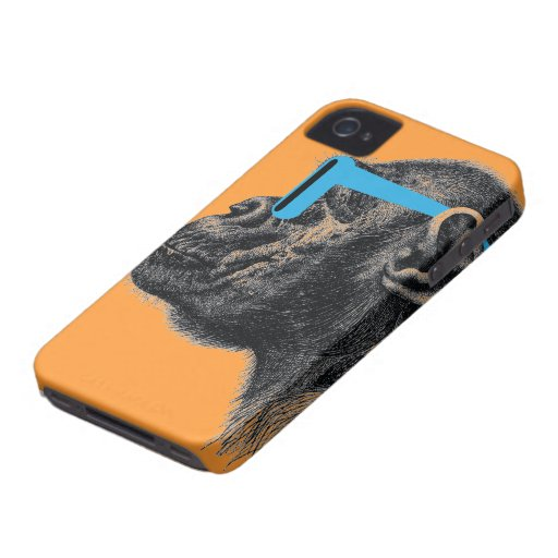 Caso del iPhone 4 de las sombras (naranja) iPhone 4 Cárcasas