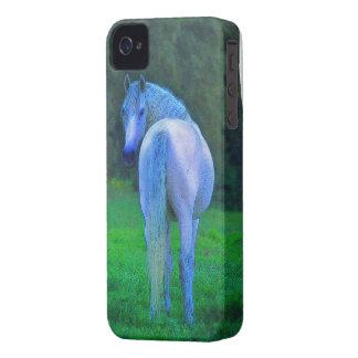 Caso del iPhone 4 de los Caballo-amantes blancos d iPhone 4 Case-Mate Coberturas