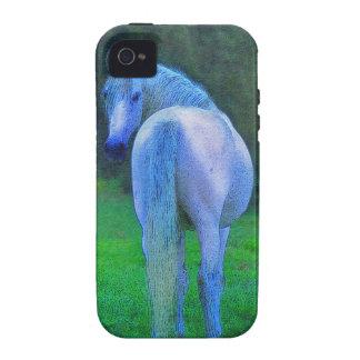 Caso del iPhone 4 de los Caballo-amantes blancos d