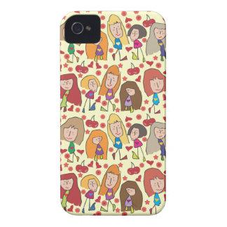 Caso del iPhone 4 de los chicas del dibujo animado Case-Mate iPhone 4 Coberturas