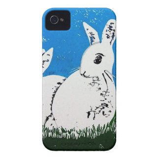 Caso del iPhone 4 de los conejos iPhone 4 Case-Mate Cobertura