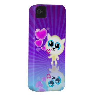 Caso del iPhone 4 de los corazones de la burbuja q Case-Mate iPhone 4 Cárcasa