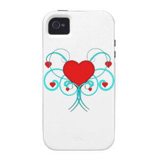 Caso del iPhone 4 de los corazones del vector iPhone 4/4S Carcasas