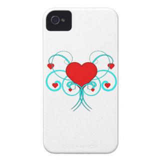 Caso del iPhone 4 de los corazones del vector iPhone 4 Case-Mate Cárcasa