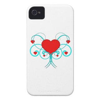 Caso del iPhone 4 de los corazones del vector iPhone 4 Cobertura