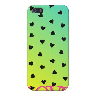 Caso del iPhone 4 de los corazones y del amor de l iPhone 5 Protector