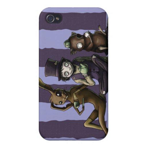 Caso del iPhone 4 de los cuervos y de los escritor iPhone 4 Protector
