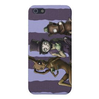 Caso del iPhone 4 de los cuervos y de los escritor iPhone 5 Protectores