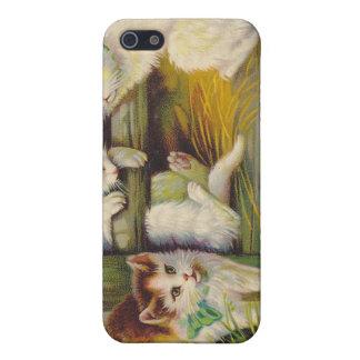 Caso del iPhone 4 de los gatos de la curiosidad de iPhone 5 Funda
