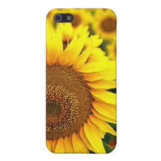 Caso del iPhone 4 de los girasoles del verano iPhone 5 Fundas