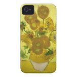 Caso del iPhone 4 de los girasoles Case-Mate iPhone 4 Cárcasa