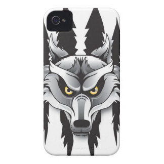 Caso del iPhone 4 de los lobos de SCA iPhone 4 Case-Mate Carcasas