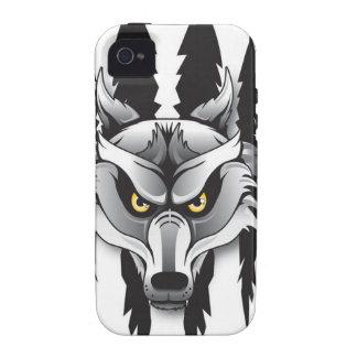 Caso del iPhone 4 de los lobos de SCA Case-Mate iPhone 4 Carcasas