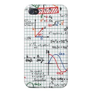 Caso del iPhone 4 de los números de fórmulas de la iPhone 4 Protectores