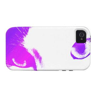 Caso del iphone 4 de los ojos de gato coloreados Case-Mate iPhone 4 carcasa