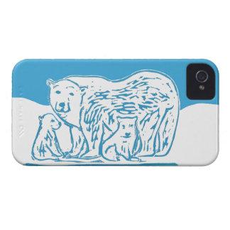 Caso del iPhone 4 de los osos polares Case-Mate iPhone 4 Protector