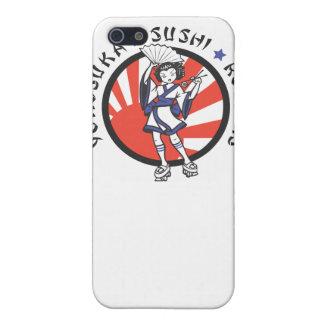 Caso del iPhone 4 de los rodillos del sushi de Yok iPhone 5 Carcasas