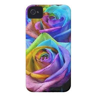 Caso del iPhone 4 de los rosas del arco iris iPhone 4 Case-Mate Carcasa
