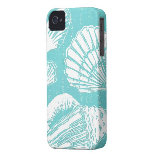 Caso del iPhone 4 de los Seashells iPhone 4 Protectores