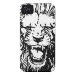 Caso del iPhone 4 de Millwall (cabeza del león) Case-Mate iPhone 4 Cárcasas