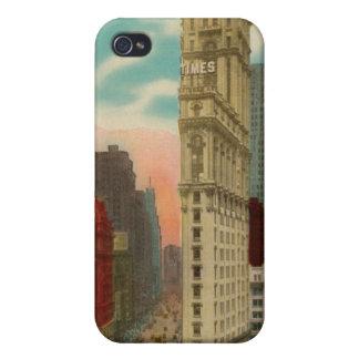 Caso del iphone 4 de Nueva York del Times Square d iPhone 4/4S Carcasa