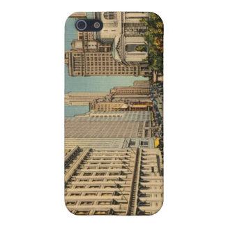 Caso del iphone 4 de Nueva York del vintage iPhone 5 Funda