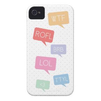 Caso del iPhone 4 de OMG Texting iPhone 4 Cárcasa