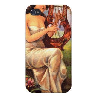 Caso del iPhone 4 de Radiana del vintage iPhone 4 Protectores