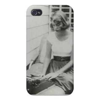 Caso del iPhone 4 de Sylvia Plath iPhone 4 Funda