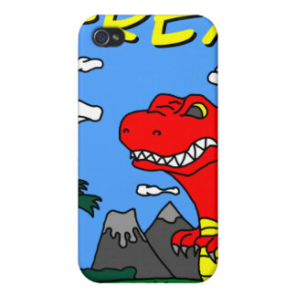 ¡Caso del iPhone 4 de T-Rex!!! iPhone 4 Carcasa