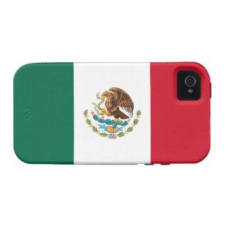 Caso del iPhone 4 de Tough™ de la bandera de Méxic Case-Mate iPhone 4 Carcasas