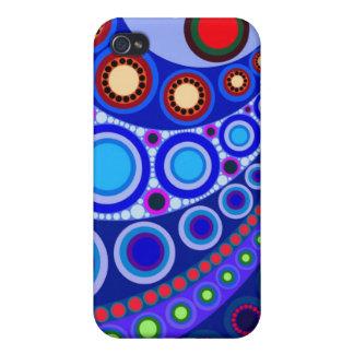 Caso del iPhone 4 del adorno #147 del círculo iPhone 4 Carcasas