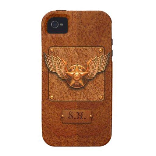 Caso del iPhone 4 del ala de la estrella Carcasa Vibe iPhone 4
