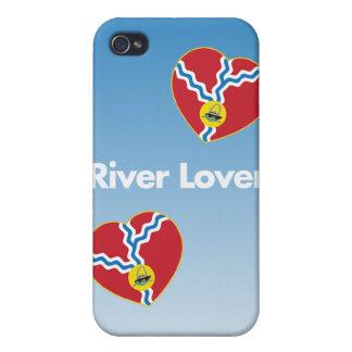Caso del iPhone 4 del amante del río iPhone 4/4S Funda