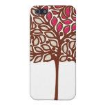 Caso del iPhone 4 del árbol de amor iPhone 5 Fundas