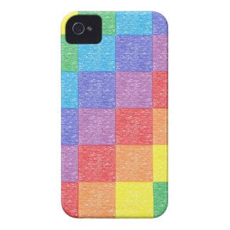 Caso del iPhone 4 del arco iris del remiendo iPhone 4 Case-Mate Cárcasa