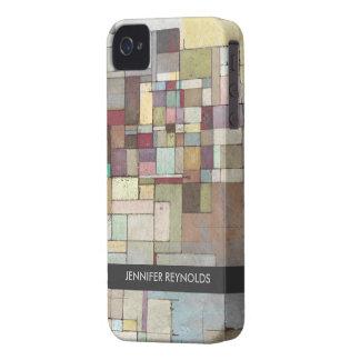 Caso del iPhone 4 del arte abstracto del enrejado Case-Mate iPhone 4 Protectores