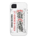 Caso del iphone 4 del arte de la etiqueta del fran Case-Mate iPhone 4 carcasas
