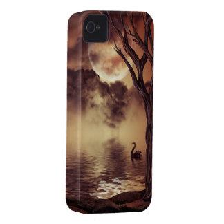 Caso del iPhone 4 del arte de la fantasía del cisn iPhone 4 Case-Mate Cobertura